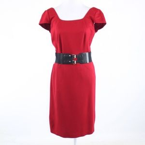 Antonio Melani red stretch sheath dress 6